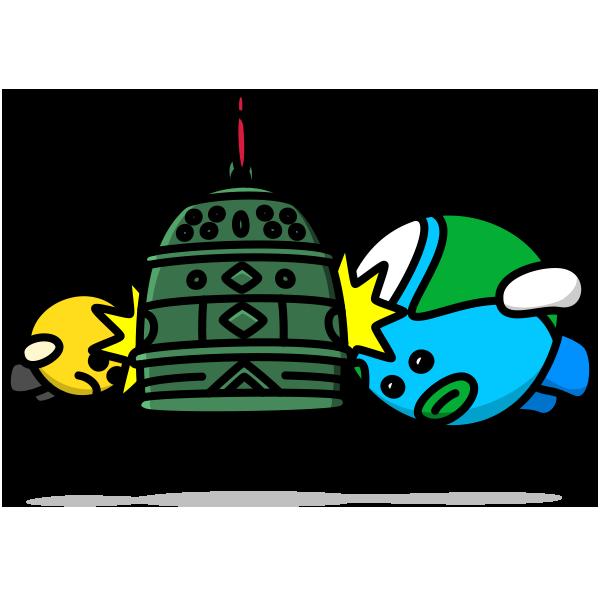 除夜の鐘の試突き